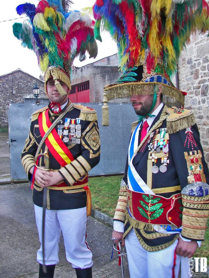 Xenerais da Ullla, una de las figuras mas características del carnaval de A Estrada