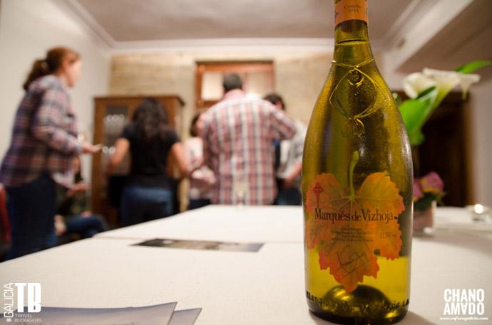 Una de las botellas de Marques de Vizhoja que disfrutamos en la comida
