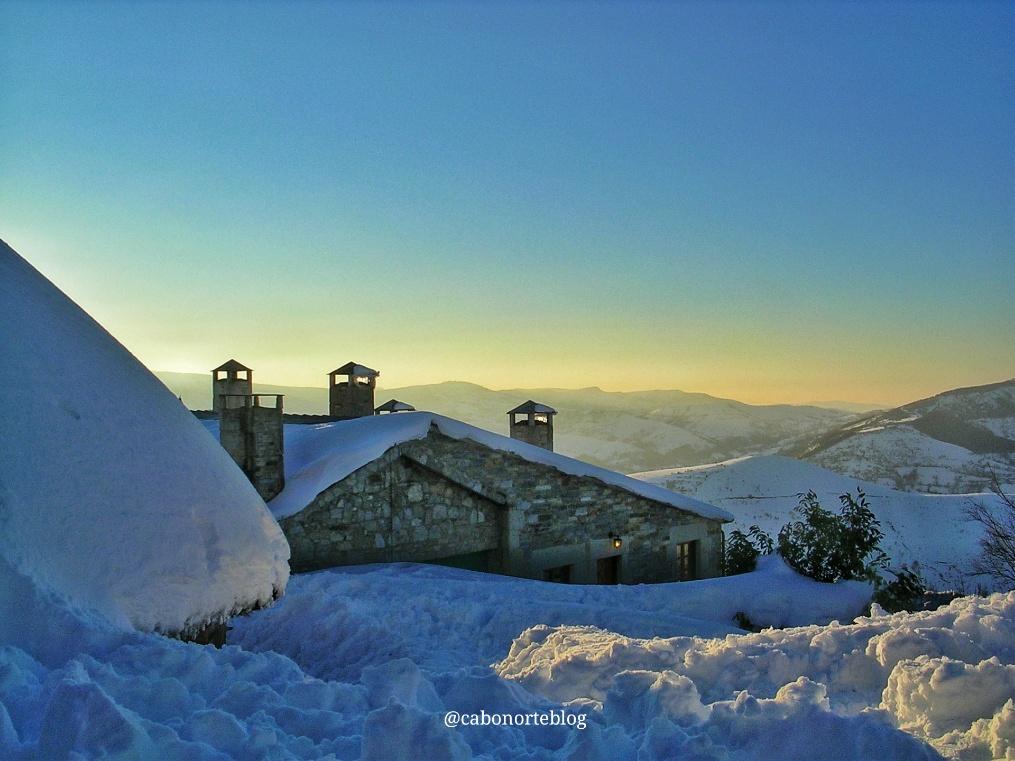 O Cebreiro, Galicia, nieve